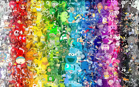 rainbow pop culture character collage by jdreever18 deviantart com