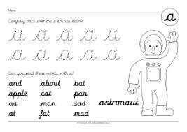 cursive alphabet and sounds worksheets sparklebox