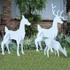 reindeer family set decor