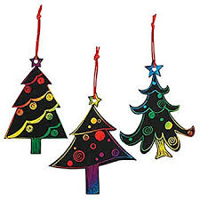 magic color scratch tree ornaments 24 count