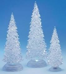 Ice Blue Christmas Tree Decorations by Set Of 3 Led Lighted Color Changing Christmas Tree Decorations