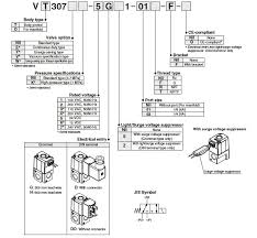 3 port solenoid air valve direct operated poppet type vt307 series