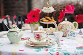Tea Party Table by Photoshoot Inspiration British Tea Party Theme Love Our Wedding