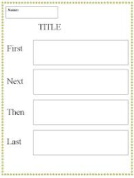 graphic organizer template first next then last graphic