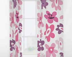 Pink And Purple Curtains Pink Drapes Etsy