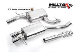 vw passat b6 2 0tfsi milltek turbo back exhaust sport cat polished