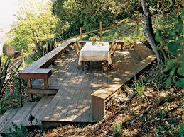 Steep Sloped Backyard Ideas by Taming A Slope Sunset