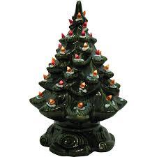 ceramic christmas tree with lights small vintage ceramic christmas tree light up base faux plastic