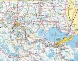 Louisiana Parish Map With Cities by Interstate Guide Interstate 12