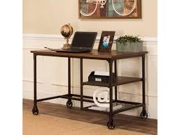 Industrial Writing Desk by Cramco Inc Craft Industrial Metal Table Desk With Rustic Elm Wood