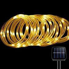 le solar power 16 5ft 50 led rope string lights warm