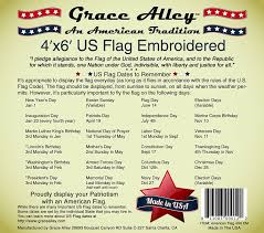 amazon com us flag 4x6 100 american made american flag 4x6 ft