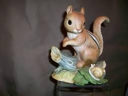 homco home interiors vintage homco home interiors chipmunk snail figurine 1487