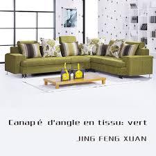canape tissu rayures canapé angle en tissu vert salon meubles maison le meilleur site