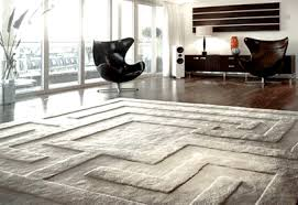 Modern Wool Rug Large Contemporary Area Rugs Square Grey Labirin Pattern Vintage