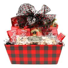 new year gift baskets mad for plaid gift baskets 4u