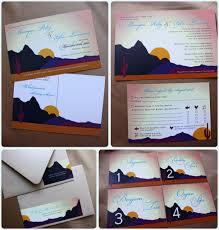arizona desert themed wedding save the dates invitations address