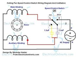 ceiling fan speed control switch wiring diagram electrical