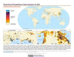 Grid Map Maps Global Grid Of Probabilities Of Urban Expansion To 2030 V1
