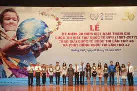 Apply Universal Postal Union International Letter Writing Celebrates 30th Year Participating In Upu Contest