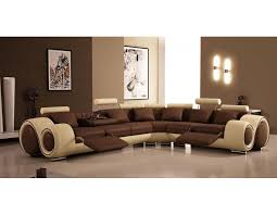 Corner Sofas With Recliners Modern Brown Leather Sectional Sofas With Recliners With Brown