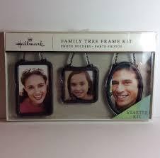 hallmark family tree starter accessory kit 3 frames ornaments