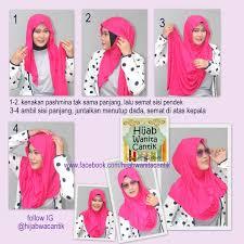 tutorial hijab pashmina kaos yang simple hijab tutorial pashmina kaos hijab wanita cantik