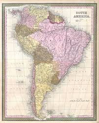 Columbia South America Map File 1850 Mitchell Map Of South America Geographicus