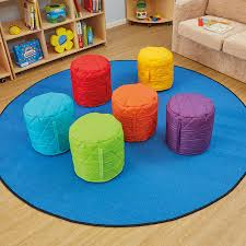 quilted pouffe bean bags 6pk childrens quilted beanbags supplier