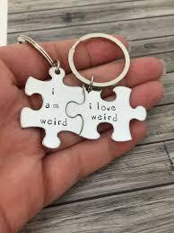 i am weird i love weird couples keychains couples gift ideas