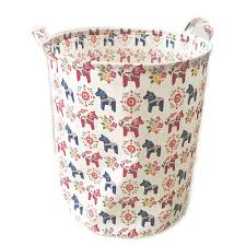 Laundry Hamper Kids by Amazon Com Ecohip Large Storage Bin Swedish Dala Horse Fabric
