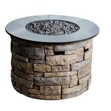 Fire Pit Kit Stone by Stone Veneer Propane Fire Pit Kit How To Build Propane Fire Pit