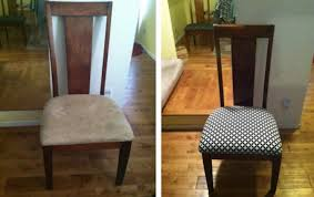 How To Reupholster Dining Room Chairs Reupholstering Dining Room Chairs Diy Reupholstering A Dining Room
