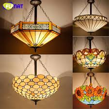 tiffany kitchen lights antique style tiffany pendant l 20 stained glass suspension