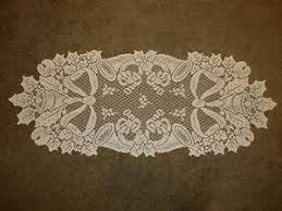 ivory lace table runner new ivory lace christmas horn design table runner scarf 36 x 14 ebay