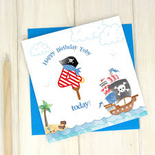 personalised 2nd birthday pirate card by chi chi moi