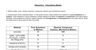 classifying matter answers worksheet 2 doc google docs