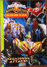 power rangers giant books color adversaries u0026