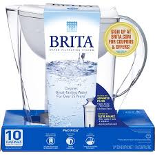 Brita Faucet Filter Coupon Brita Pacifica Water Filtration Pitcher With 1 Filter 10 Cup Bpa
