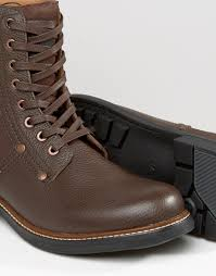 brown motorcycle boots for men g star raw labour lace up leather boots in brown for men lyst