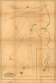 Battle Of Gettysburg Map Civil War Blog Antique Maps Of Gettysburg