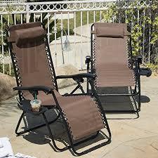 Zero Gravity Patio Chairs by Brown Zero Gravity Patio Chairs 2 Pack