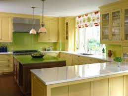 Kitchen Cabinet Valance Kitchen Wood Kitchen With Lime Green Color Splashes On The