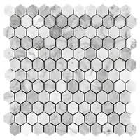 Marble Mosaic Floor Tile Hexagon Carrara From 8 95 Square Foot Marble Mosaic Tiles