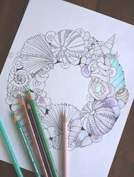 sea shell wreath coloring page coloring page 1 pdf