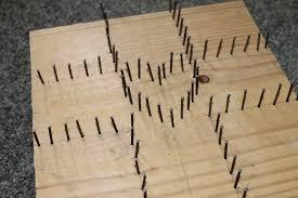 nail and string art crafthubs diy string art lenten nail and