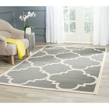 Grey Outdoor Rugs Courtyard Grey Beige Moroccan Style Indoor Outdoor Rug Ezhomeliving