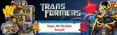 printable transformers birthday banner party ideas