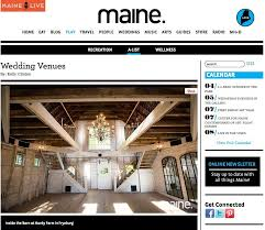 Barn Weddings In Maine Maine Mag Wedding Venue Roundup Maine Barn Wedding Venue