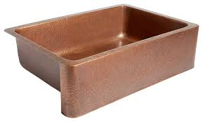 Adams Farmhouse ApronFront Copper Kitchen Sink  Traditional - Cooper kitchen sink